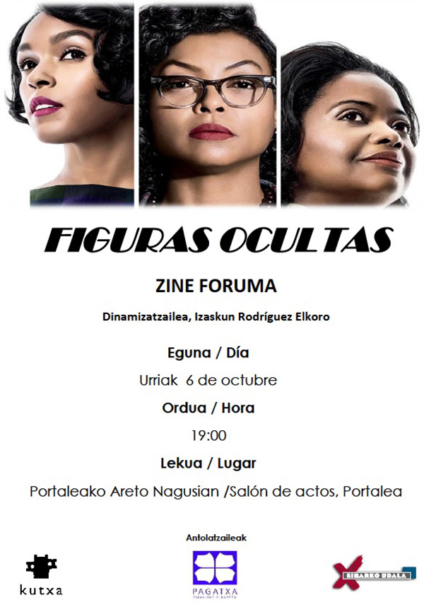"Bideo-foruma: ""Figuras ocultas"" @ Portalean (areto nagusian)"