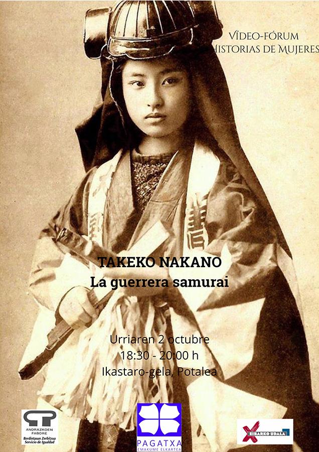 """Bideo-foruma: """"La guerrera samurai"""" (Takeko Nakano) @ Portalean (ikastaro gelan)"""
