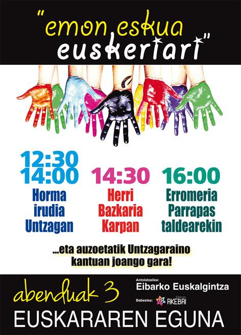 """Euskararen eguna: """"Emon eskua euskeriari"""""""