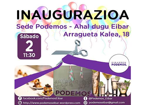 Inaugurazioa @ Eibarko Podemos Ahal Duguren egoitzan (Arragueta, 18)