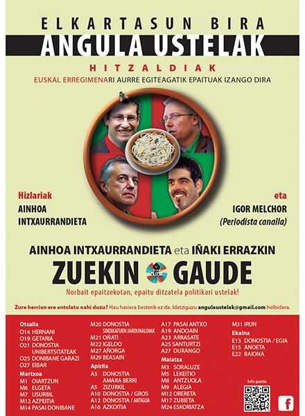 """""""Angula Ustelak"""" hitzaldi bira @ Arrate Kultur Elkartean"""