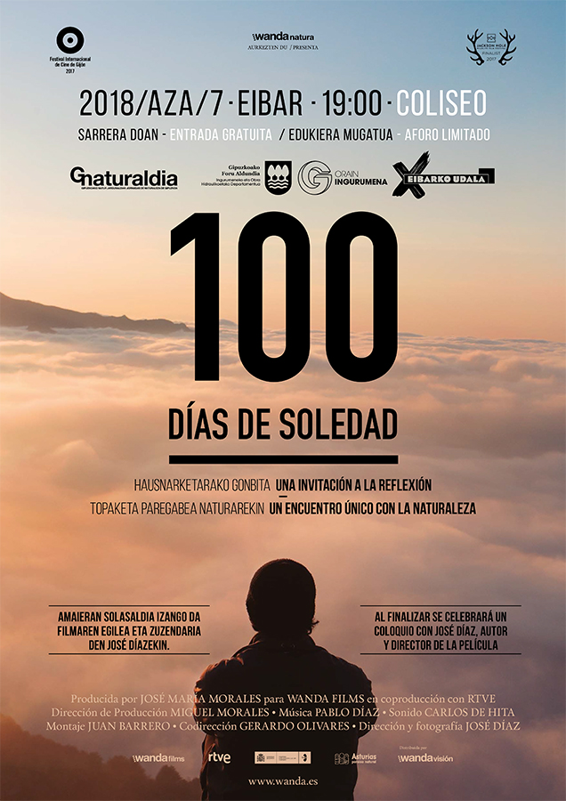 Hitzaldia eta solasaldia: '100 días de soledad' @ Coliseo antzokian