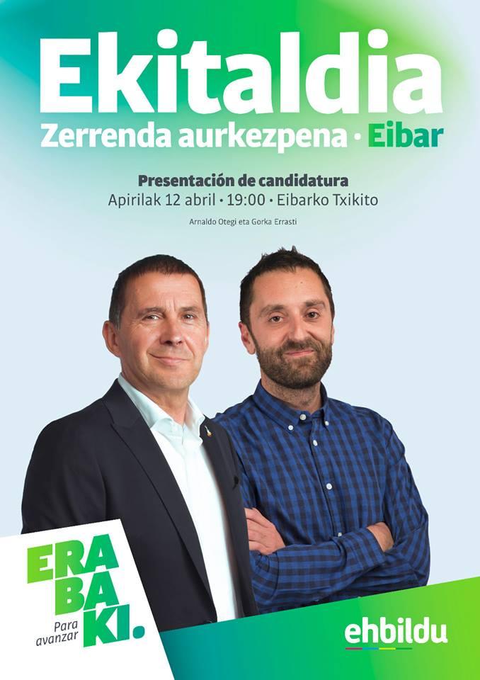 EH Bilduren zerrenda aurkezteko ekitaldia @ Eibarko Txikiton (Txaltxa Zelaiko auditorioan)