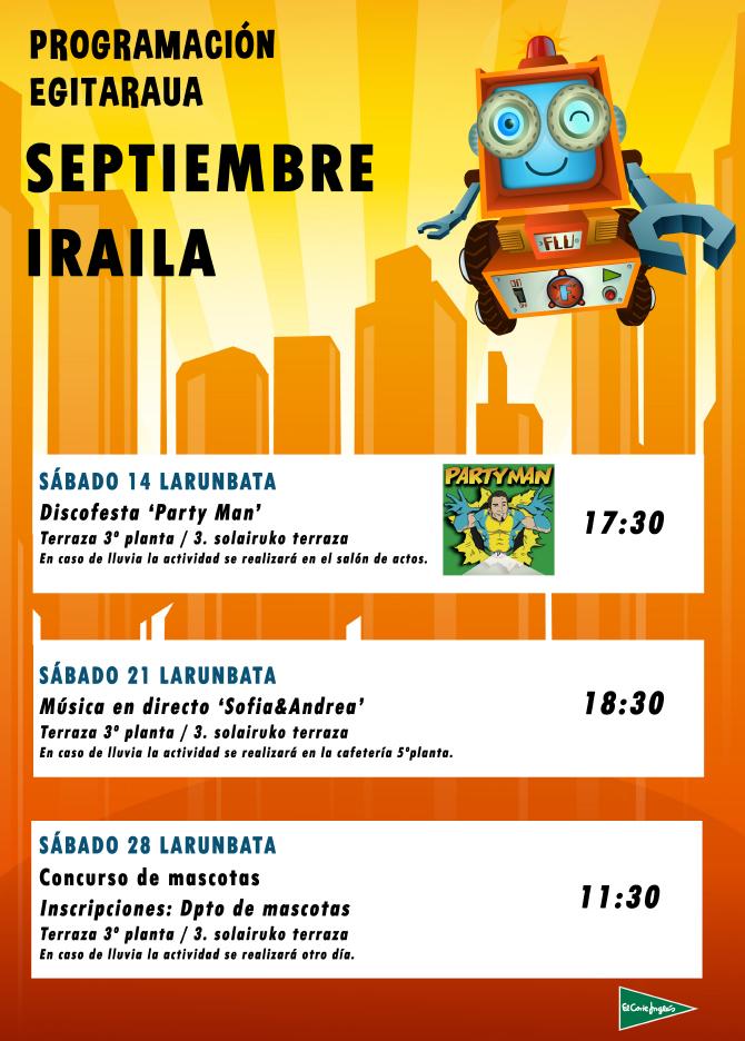 Diskofesta: Party Man @ El Corte Ingleseko terrazan (euria egitekotan ekitaldi aretoan egingo da)