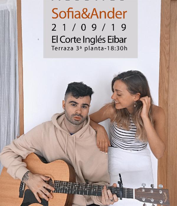Musika zuzenean: Sofia&Ander @ El Corte Ingleseko terrazan (euria egitekotan 5. pisuko kafetegian egingo da)