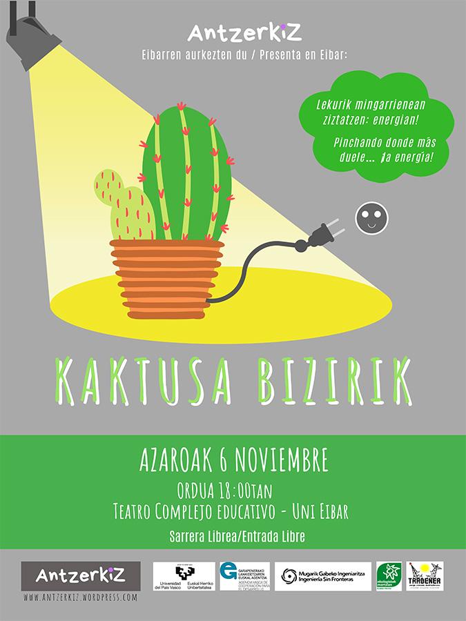 """Antzerkia: """"Kaktusa Bizirik"""" @ Hezkuntza Esparruan (areto nagusian)"""