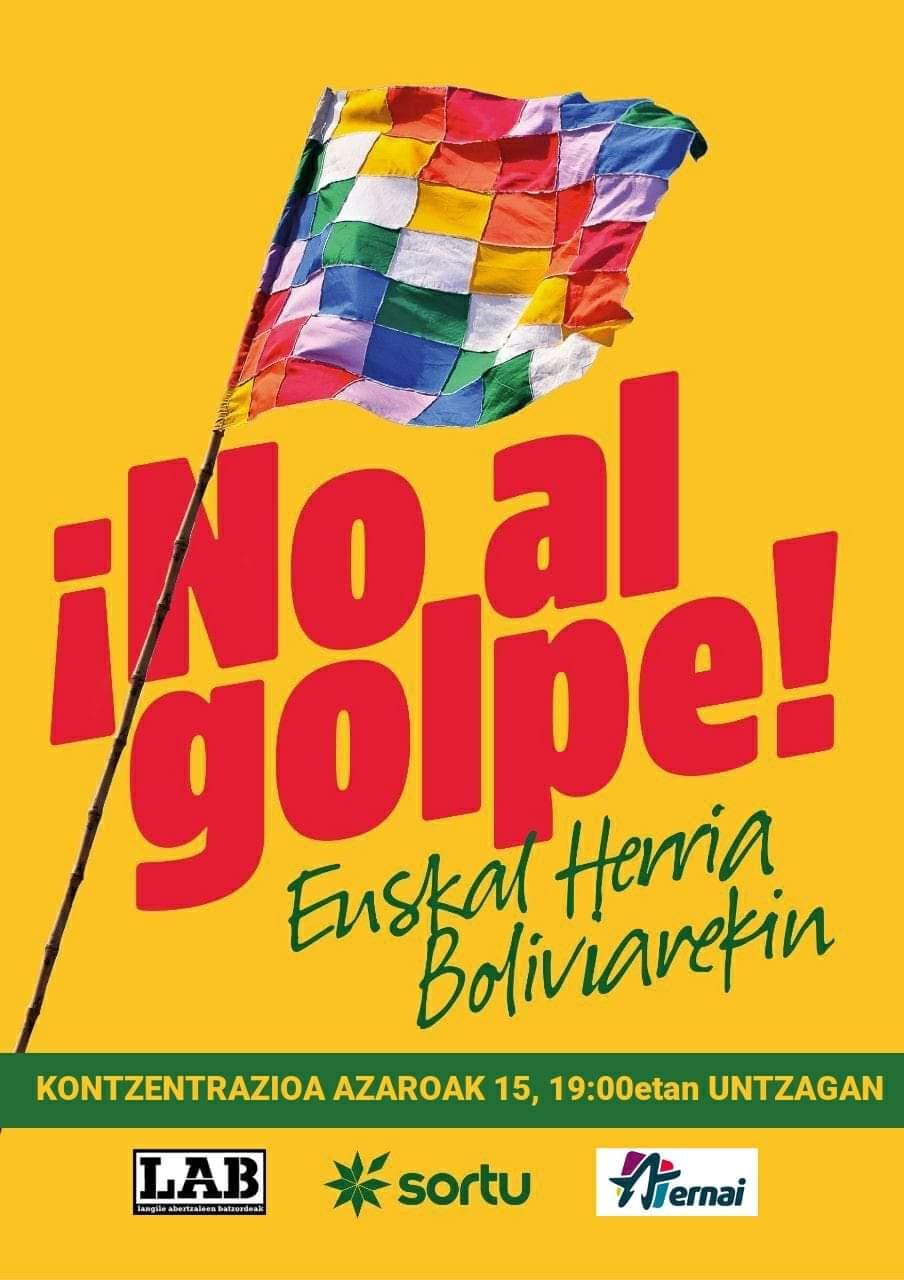 Kontzentrazioa, Boliviako estatu kolpearen aurka @ Untzagan
