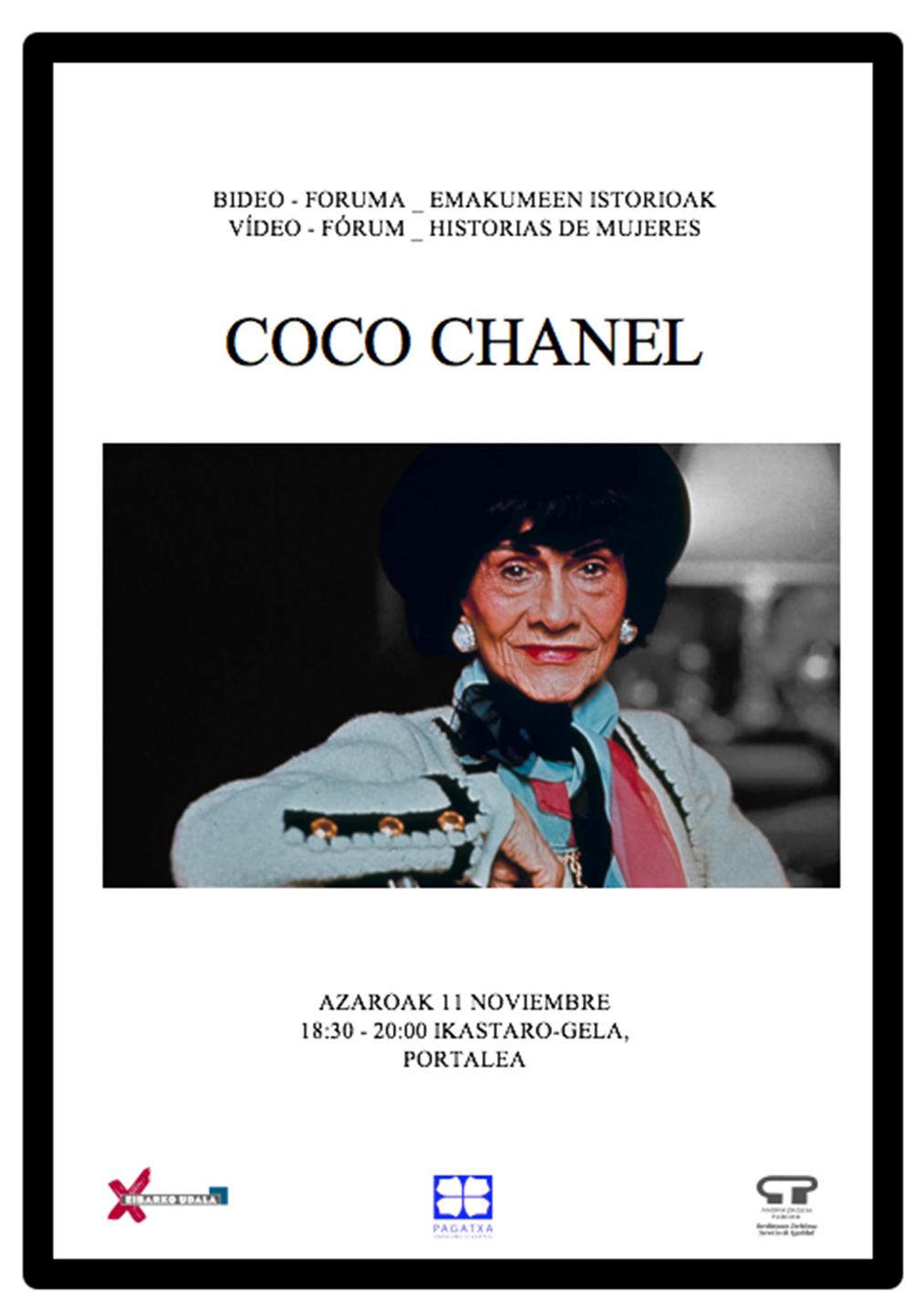 Bideo-foruma (Emakumeen Istorioak): Coco Chanel @ Portalean (ikastaro gelan)