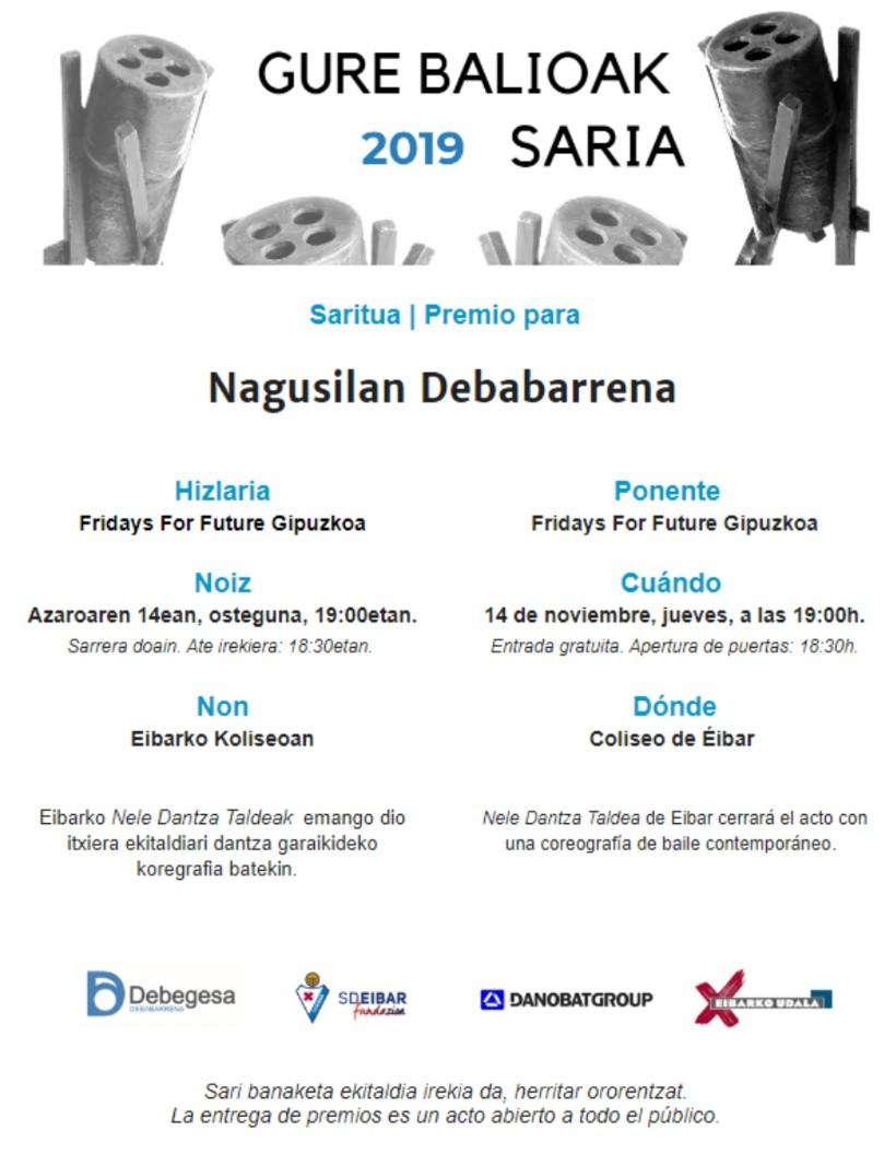 Gure Balioak Saria 2019 @ Coliseo antzokia