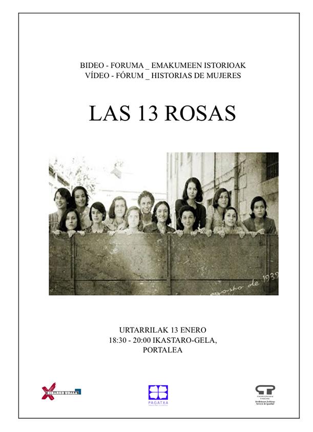"""Bideo-foruma: """"Las 13 rosas"""" @ Portalean (ikastaro gelan)"""