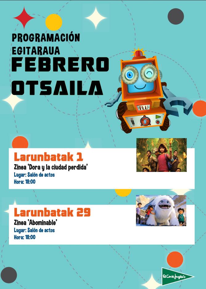 "Umeendako zinea: ""Dora y la ciudad perdida"" @ El Corte Inglesean (ekitaldi aretoan)"