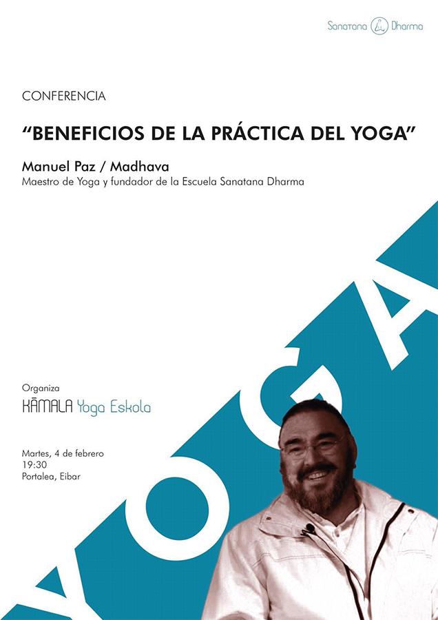 """Hitzaldia: """"Beneficios de la practica del yoga"""" @ Portalean"""