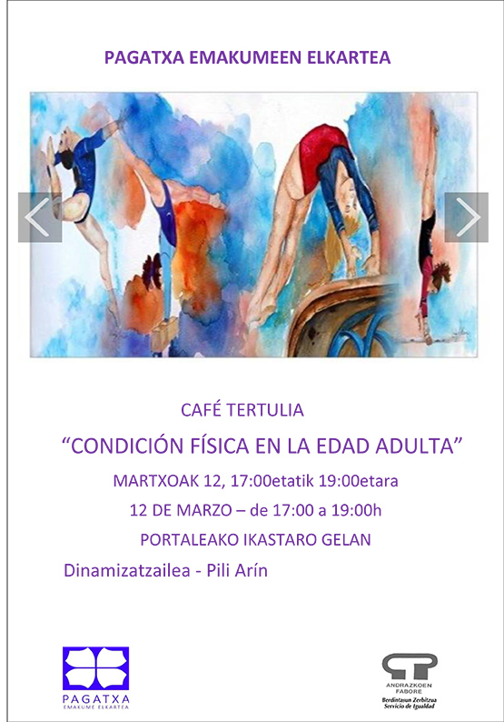 "Kafe tertulia: ""Condicion fisica en la edad adulta"" @ Portalean (ikastaro gelan)"
